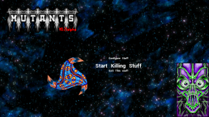 Screenshot of the title screen and menu.